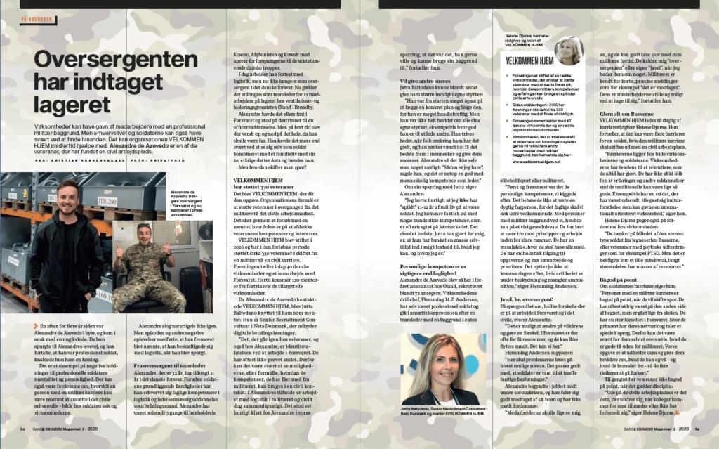 Dansk Erhverv sætter fokus på Velkommen Hjem